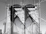Love NY Series - The Brooklyn Bridge - Manhattan - New York - USA - B&W Photography Photographic Print by Philippe Hugonnard