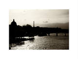Landscape View of the River Seine and the Eiffel Tower at Sunset - Paris - France - Europe Photographic Print by Philippe Hugonnard