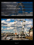 Window View of the Millennium Wheel (London Eye) and River Thames - City of London - UK - England Photographic Print by Philippe Hugonnard