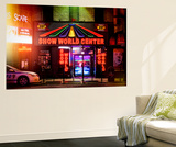 Wall Mural - Urban Night Scene in Times Square at Night - Manhattan - New York Wall Mural by Philippe Hugonnard