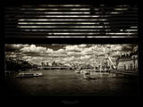 Window View of River Thames with London Eye (Millennium Wheel) - City of London - UK - England Photographic Print by Philippe Hugonnard