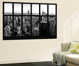 Wall Mural - Window View - Manhattan Skyline with the Empire State Building - New York City Wall Mural by Philippe Hugonnard