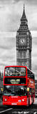 London Red Bus and Big Ben - City of London - UK - England - Photography Door Poster Photographic Print by Philippe Hugonnard