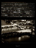 Window View of City of London at Night - River Thames - London - UK - England - United Kingdom Photographic Print by Philippe Hugonnard