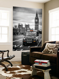 Wall Mural - London Taxi and Big Ben - Black Cabs - London - UK - England - Europe Wall Mural by Philippe Hugonnard