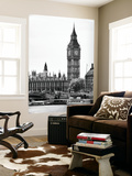 Wall Mural - The Houses of Parliament and Big Ben - Hungerford Bridge and River Thames - London Wall Mural by Philippe Hugonnard
