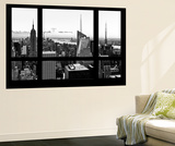 Wall Mural - Window View - Manhattan Skyline with the Empire State Building - New York Mural por Philippe Hugonnard