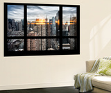 Wall Mural - Window View - Manhattan View with Times Square and 42nd Street - New York Wall Mural by Philippe Hugonnard