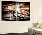 Wall Mural - Urban Sign - Broadway Sign - Manhattan - New York City Wall Mural by Philippe Hugonnard