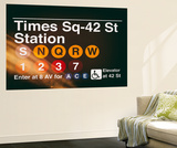 Wall Mural - Times Square Subway Sign - 42nd Street Station - Manhattan - New York Wall Mural by Philippe Hugonnard