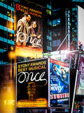 Instants of NY Series - Billboards Best Musicals on Broadway and Times Square at Night - Manhattan Photographic Print by Philippe Hugonnard