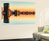 Wall Mural - Manhattan Double Sided with the New Yorker Hotel at Sunset - New York - USA Wall Mural by Philippe Hugonnard