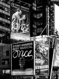 Billboards Best Musicals on Broadway and Times Square at Night - Manhattan - New York Photographic Print by Philippe Hugonnard