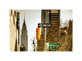 View of The Chrysler Building and Avenue of the Americas Sign - Manhattan - New York Photographic Print by Philippe Hugonnard