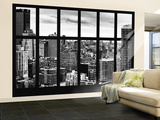 Wall Mural - Window View - Cityscape of Manhattan - New York - USA Reproduction murale géante par Philippe Hugonnard