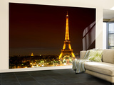 Wall Mural - The Eiffel Tower at Night - Paris - France Wall Mural – Large by Philippe Hugonnard