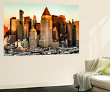 Wall Mural - Times Square Buildings at Sunset - Theater District - Manhattan - New York - USA Wall Mural by Philippe Hugonnard