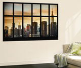 Wall Mural - Window View - Landscape of Manhattan with the Chrysler Building - New York Wall Mural by Philippe Hugonnard