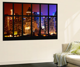 Wall Mural - Window View - Times Square Buildings by Night - Manhattan - New York Wall Mural by Philippe Hugonnard