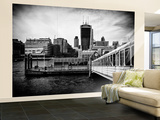 Wall Mural - Jetty of The River Thames View with the Walkie-Talkie - London Wall Mural – Large by Philippe Hugonnard