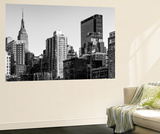 Wall Mural - Manhattan Cityscape with the Empire State Building - New York City Wall Mural by Philippe Hugonnard