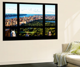 Wall Mural - Window View - Central Park - Manhattan - New York Wall Mural by Philippe Hugonnard
