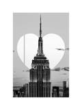 Love NY Series - The Empire State Building - Manhattan - New York - USA - B&W Photography Photographic Print by Philippe Hugonnard