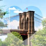 Love NY Series - the Brooklyn Bridge - Manhattan - New York - USA Photographic Print by Philippe Hugonnard