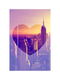 Love NY Series - Manhattan at Sunset - The Empire State Building - New York - USA Fotografiskt tryck av Philippe Hugonnard