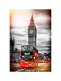 London Red Bus and Big Ben - City of London - UK - England - United Kingdom - Europe Photographic Print by Philippe Hugonnard