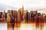 Urban Stretch Series - Manhattan Skyscrapers with the Chrysler Building - New York Photographic Print by Philippe Hugonnard