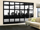 Wall Mural - Window View - Manhattan View from Brooklyn with 1 WTC - New York Wall Mural – Large by Philippe Hugonnard