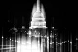 Urban Stretch Series - The Capitol Building by Night - US Congress - Washington DC Photographic Print by Philippe Hugonnard