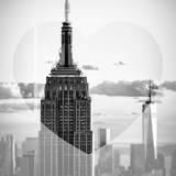 Love NY Series - The Empire State Building and 1WTC at Sunset - Manhattan - New York - USA Photographic Print by Philippe Hugonnard
