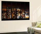 Wall Mural - Window View - Manhattan by Night with the One World Trade Center - New York Wall Mural by Philippe Hugonnard