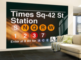 Wall Mural - Times Square Subway Sign - 42nd Street Station - Manhattan - New York Wall Mural – Large by Philippe Hugonnard