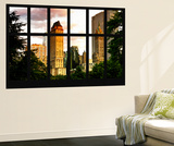 Wall Mural - Window View - Center Park Buildings at Sunset - Manhattan - New York Wall Mural by Philippe Hugonnard