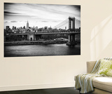 Wall Mural - The Manhattan Bridge and the Empire State Building - Manhattan - New York - USA Reproduction murale par Philippe Hugonnard