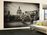 Wall Mural - Millennium Bridge and St. Paul's Cathedral - City of London - UK - England Wall Mural – Large by Philippe Hugonnard