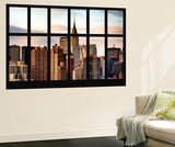 Wall Mural - Window View - Manhattan Skyscrapers with the Chrysler Building - New York Wall Mural by Philippe Hugonnard