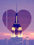 Love NY Series - The Empire State Building at Nightfall - Manhattan - New York - USA Photographic Print by Philippe Hugonnard