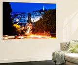 Wall Mural - Lombard Street at Night - San Francisco - California - USA Wall Mural by Philippe Hugonnard