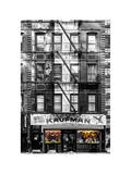 Old Building Facade in the Colors of the American Flag in Times Square - Manhattan - NYC Photographic Print by Philippe Hugonnard