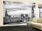 Wall Mural - Palace of Westminster and Big Ben - Westminster Bridge - London - England Wall Mural – Large by Philippe Hugonnard