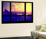 Wall Mural - Window View - Manhattan at Sunset - Times Square Buildings - New York City Wall Mural by Philippe Hugonnard