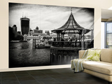 Wall Mural - Moment of Life along the River Thames in London with the Walkie-Talkie - London - UK Wall Mural – Large by Philippe Hugonnard