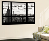 Wall Mural - Window View - Cityscape of Manhattan with the Empire State Building and 1 WTC - NYC Wall Mural by Philippe Hugonnard
