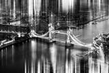 Urban Stretch Series - The Tower Bridge over the River Thames by Night - London Photographic Print by Philippe Hugonnard