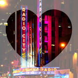 Love NY Series - The Radio City Music Hall at Night - Manhattan - New York - USA Photographic Print by Philippe Hugonnard