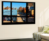 Wall Mural - Window View - Urban View of Chelsea - Manhattan - New York Wall Mural by Philippe Hugonnard